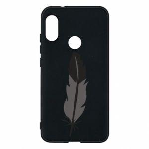 Phone case for Mi A2 Lite Black feather - PrintSalon