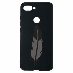 Phone case for Xiaomi Mi8 Lite Black feather - PrintSalon