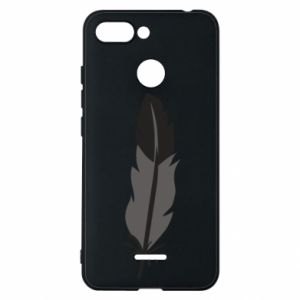 Phone case for Xiaomi Redmi 6 Black feather - PrintSalon