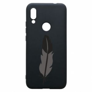 Phone case for Xiaomi Redmi 7 Black feather - PrintSalon