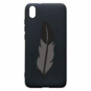 Phone case for Xiaomi Redmi 7A Black feather - PrintSalon