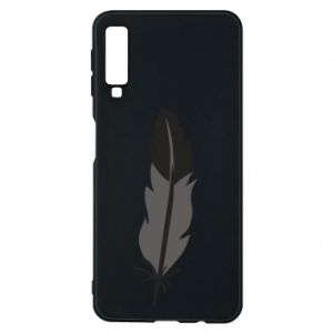 Phone case for Samsung A7 2018 Black feather - PrintSalon