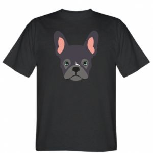 T-shirt Black french bulldog
