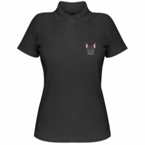 Women's Polo shirt Black french bulldog - PrintSalon