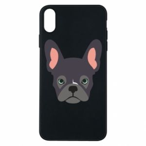 Etui na iPhone Xs Max Black french bulldog