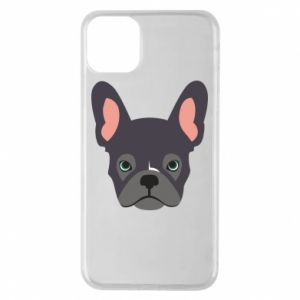 Etui na iPhone 11 Pro Max Black french bulldog
