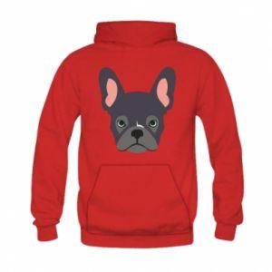 Bluza z kapturem dziecięca Black french bulldog