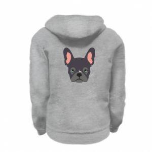 Bluza na zamek dziecięca Black french bulldog