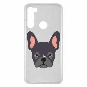 Etui na Xiaomi Redmi Note 8 Black french bulldog