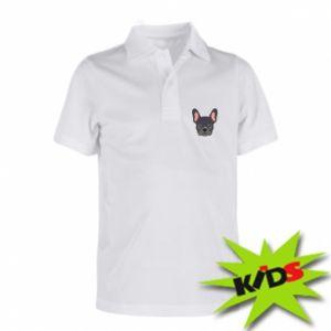Dziecięca koszulka polo Black french bulldog
