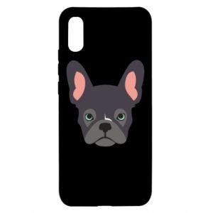 Etui na Xiaomi Redmi 9a Black french bulldog