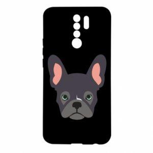 Etui na Xiaomi Redmi 9 Black french bulldog