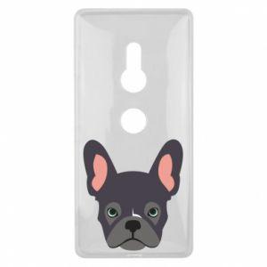 Etui na Sony Xperia XZ2 Black french bulldog