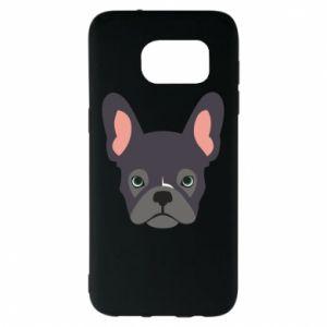 Etui na Samsung S7 EDGE Black french bulldog