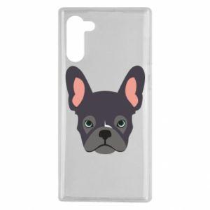 Etui na Samsung Note 10 Black french bulldog