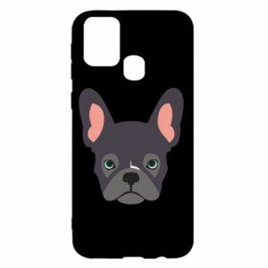 Etui na Samsung M31 Black french bulldog