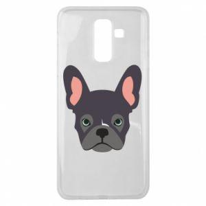 Etui na Samsung J8 2018 Black french bulldog