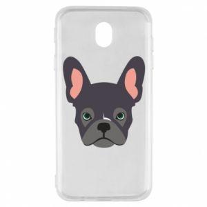 Etui na Samsung J7 2017 Black french bulldog