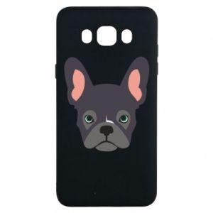 Etui na Samsung J7 2016 Black french bulldog