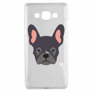 Etui na Samsung A5 2015 Black french bulldog