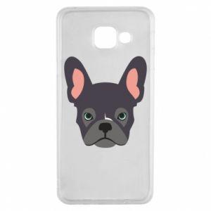 Etui na Samsung A3 2016 Black french bulldog