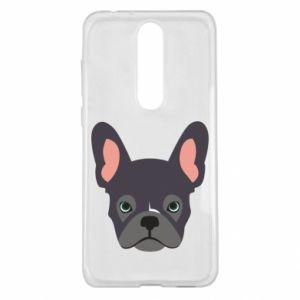 Etui na Nokia 5.1 Plus Black french bulldog