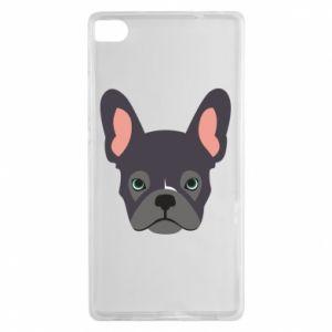 Etui na Huawei P8 Black french bulldog