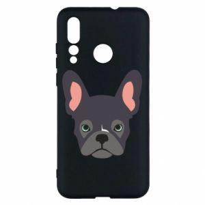 Etui na Huawei Nova 4 Black french bulldog