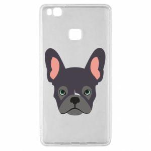 Etui na Huawei P9 Lite Black french bulldog