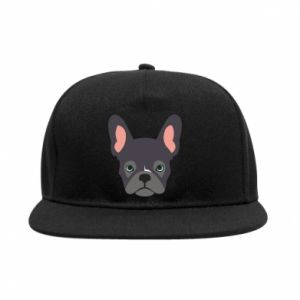Snapback Black french bulldog