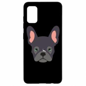 Etui na Samsung A41 Black french bulldog