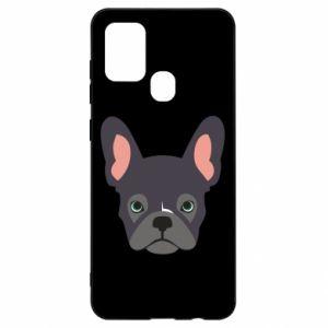 Etui na Samsung A21s Black french bulldog