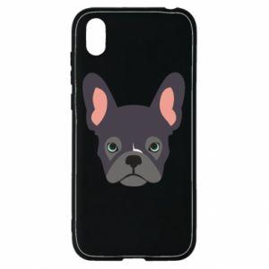 Etui na Huawei Y5 2019 Black french bulldog