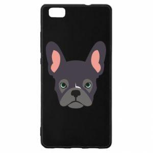 Etui na Huawei P 8 Lite Black french bulldog