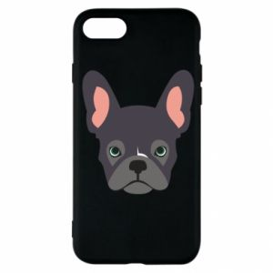 Etui na iPhone SE 2020 Black french bulldog