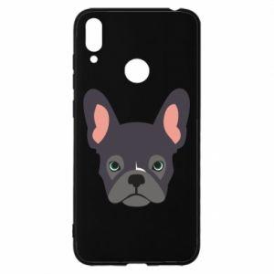 Etui na Huawei Y7 2019 Black french bulldog
