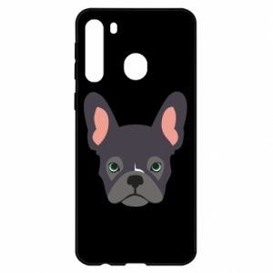 Etui na Samsung A21 Black french bulldog
