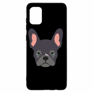 Etui na Samsung A31 Black french bulldog