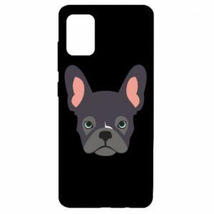 Etui na Samsung A51 Black french bulldog