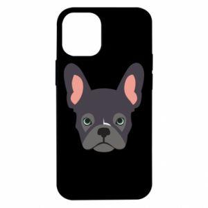 Etui na iPhone 12 Mini Black french bulldog