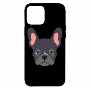 Etui na iPhone 12 Pro Max Black french bulldog