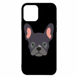 Etui na iPhone 12/12 Pro Black french bulldog