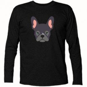 Long Sleeve T-shirt Black french bulldog - PrintSalon