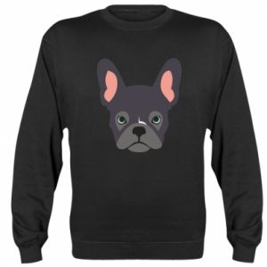 Bluza (raglan) Black french bulldog