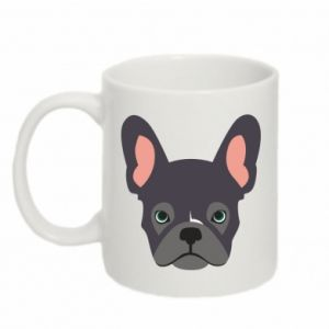 Kubek 330ml Black french bulldog