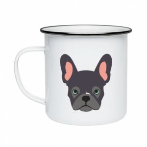 Kubek emaliowane Black french bulldog