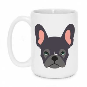 Kubek 450ml Black french bulldog