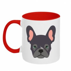 Two-toned mug Black french bulldog