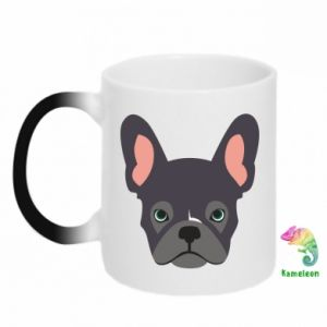 Chameleon mugs Black french bulldog - PrintSalon