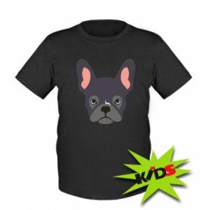 Kids T-shirt Black french bulldog - PrintSalon